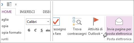 È possibile inviare una pagina tramite posta elettronica per condividerne il contenuto.