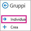 Pulsante Individua nel riquadro di spostamento di Outlook sul Web