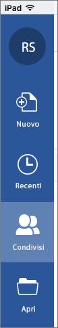 Icona Condivisi con me in iOS
