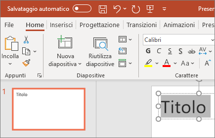 Formattare testo in PowerPoint