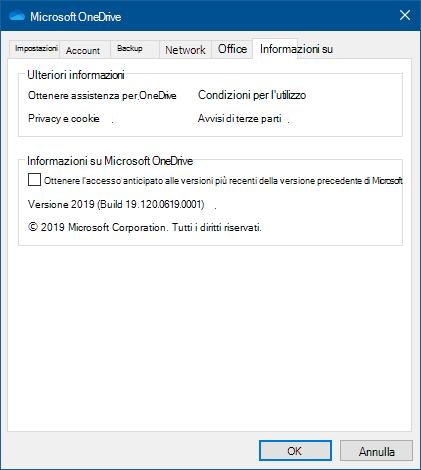 OneDrive su UI