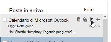 Schermata dell'opzione contrassegno nell'elenco dei messaggi