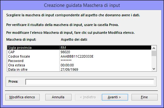 codice cap prefisso access