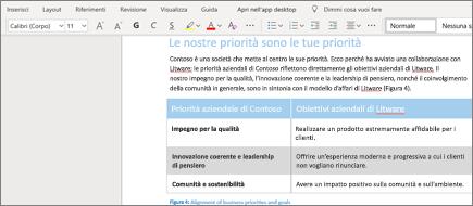 Formattare testo in Word Online