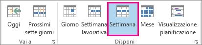 Visualizzazione Settimana