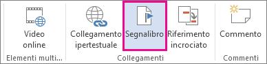 Inserisci - Segnalibro