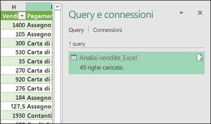 Riquadro query di Power Query e le connessioni