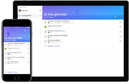 Elenco La mia giornata di Microsoft To-Do su iPhone e Surface