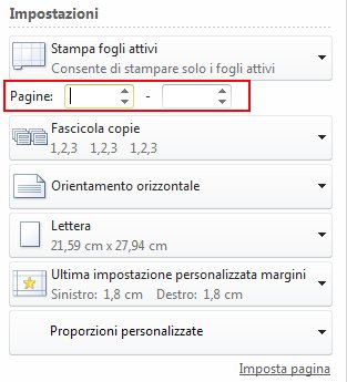 In Pages, type the page range to be printed.