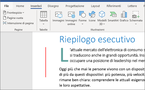 Immagini, SmartArt e Grafici in Word per Office 365