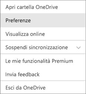 Centro attività in OneDrive per Mac