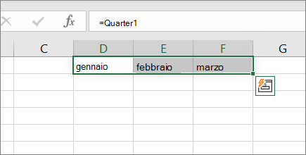 Esempio di una costante di matrice senza parentesi graffe