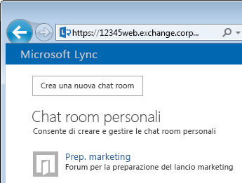Creare una chat room