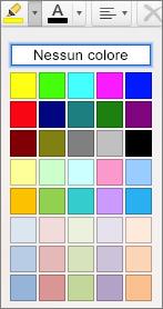 Selezionare un colore