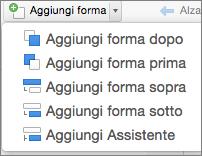 Aggiungi forma in organigramma