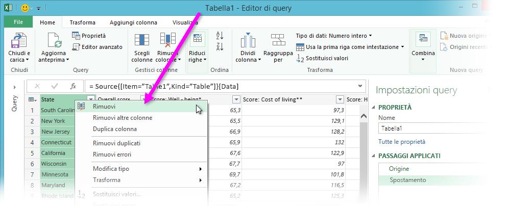 Icona della barra multifunzione di Access