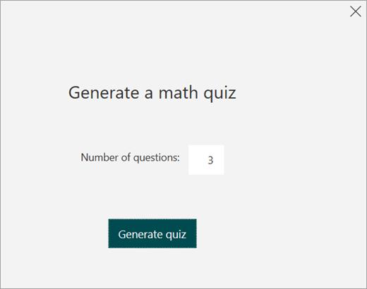 Digitare il numero di domande del test di esercitazione.