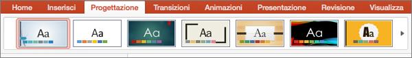 Temi in PowerPoint per Mac