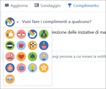 Complimento in Yammer