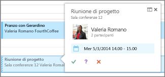 Visualizzazione rapida della riunione
