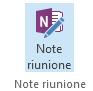 Schermata dell'icona Note riunione sulla barra multifunzione della convocazione