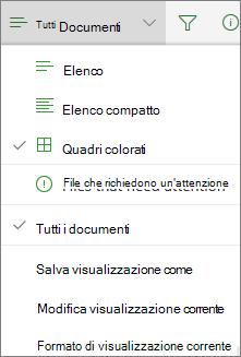 Office 365 - Cambiare la visualizzazione della raccolta documenti