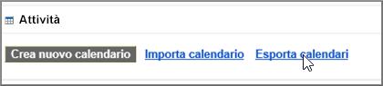 Scegliere Esporta calendari