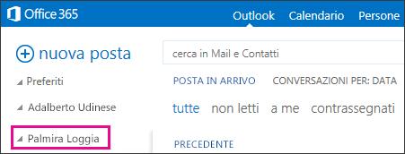 Cartella condivisa visualizzata in Outlook Web App