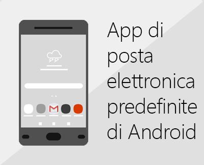 Fare clic per configurare la posta elettronica con le app e-mail predefinite di Android