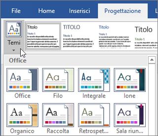 Temi in Word per Office 365