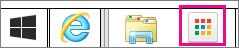 Icona di avvio delle App Chrome consente di avvio App browser dalla barra delle applicazioni Windows.