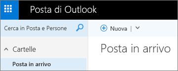 Aspetto della barra multifunzione in Outlook.com