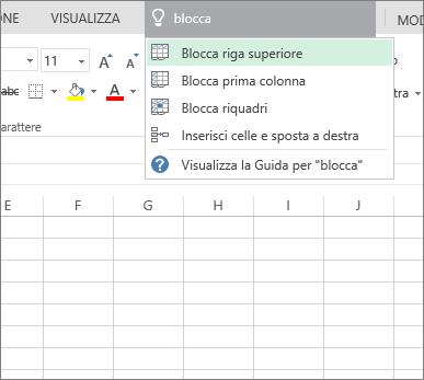Visualizzare la Guida o trovare comandi