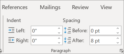 Modificare il layout in Word