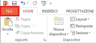 Fare clic su FILE nell'angolo superiore sinistro dello schermo.