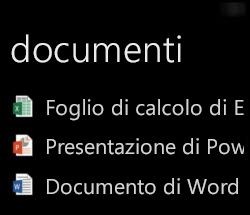 Visualizzazione dei documenti del desktop in Windows Phone con Office Remote in esecuzione