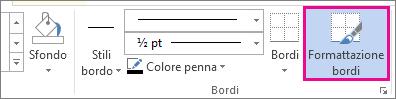 comando formattazione bordi