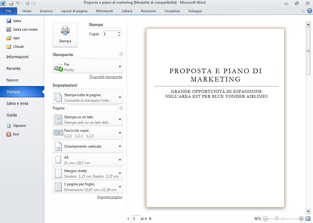 Report Pagine personalizzate in cui vengono mostrate tutte le pagine