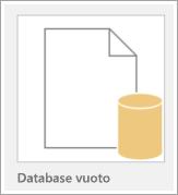 Icona di un database vuoto