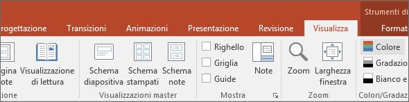 Mostra la scheda Visualizza sulla barra multifunzione di PowerPoint