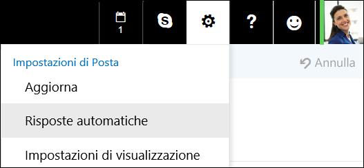 Risposte automatiche di Outlook sul Web