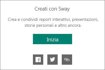 Personalizzazione Creato da Sway