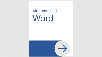 Altri modelli di Word