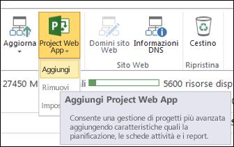 Project Web App > Aggiungi