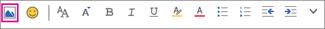 Inserire un'immagine dalla barra dei menu Formato