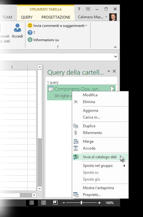 Invia al catalogo dati