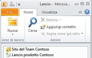 Area di lavoro di SharePoint contrassegnata con un'icona di errore di sincronizzazione