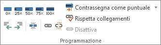 Gruppo Programmazione nella scheda Attività.