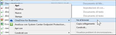 Visualizzare un file in una cartella sincronizzata in un Web browser