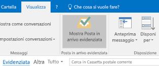 Caratteristica Posta in arrivo evidenziata di Outlook